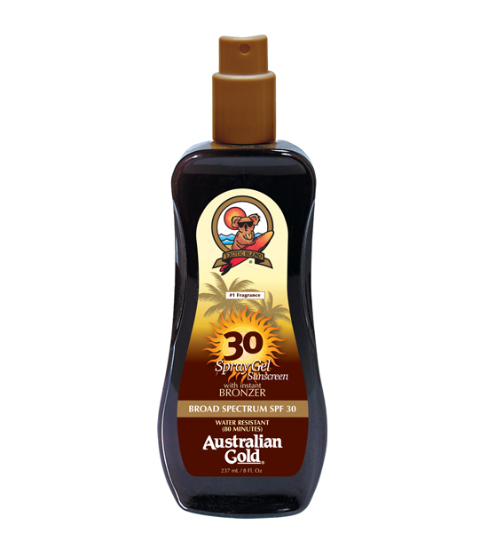 Australian Gold SPF 30 Spray Gel with Bronzer 8oz
