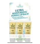 Hempz Herbal Lip Balm Display 12pc
