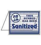 Acrylic Sanitized Bed Sign - Blue Font