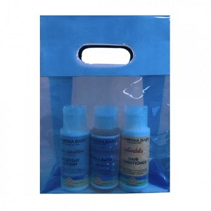 Blue Poly Prop Clearview Shopping/Gift Bag