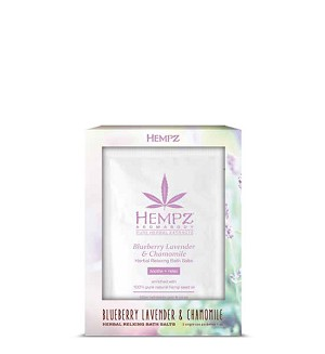 Hempz Aromabody Blueberry Lavender & Chamomile Relaxing Bath Salts (2x) 1oz