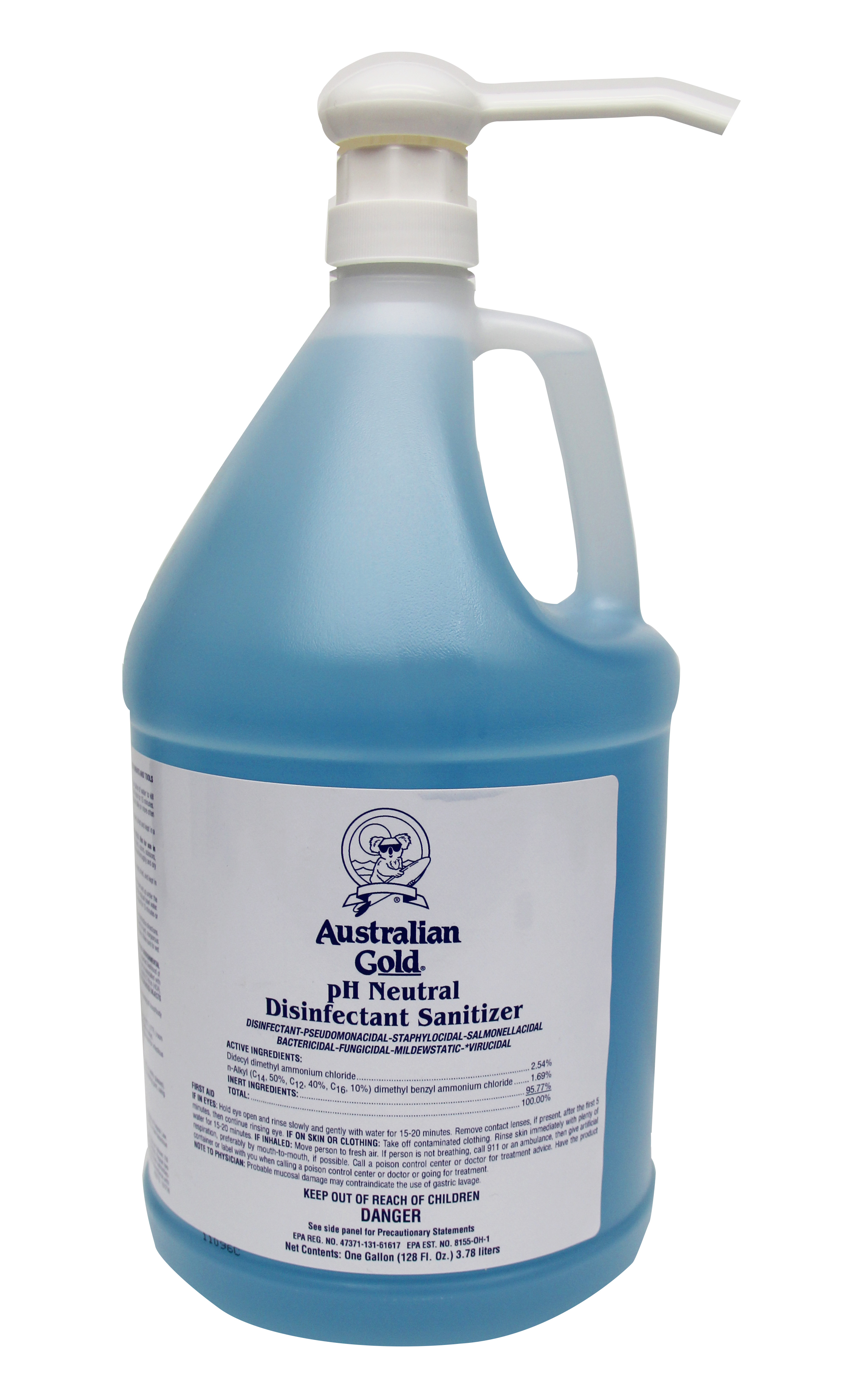 AG Disinfectant & Sanitizer Gallon with Pump Dispenser