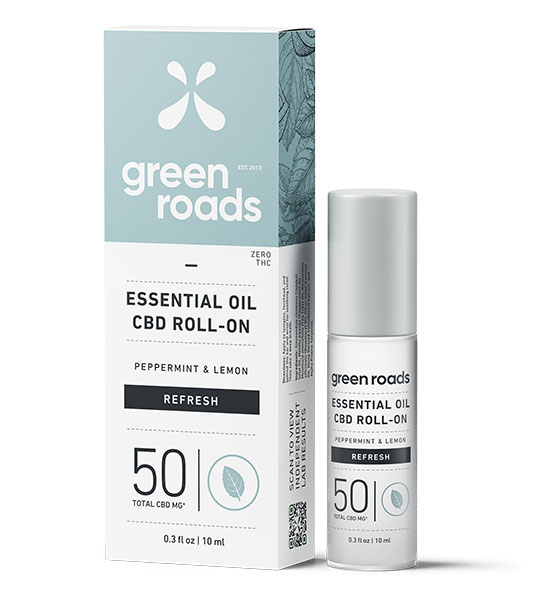 Green Roads CBD Essential Oil Roll-on 50mg Refresh 0.3oz