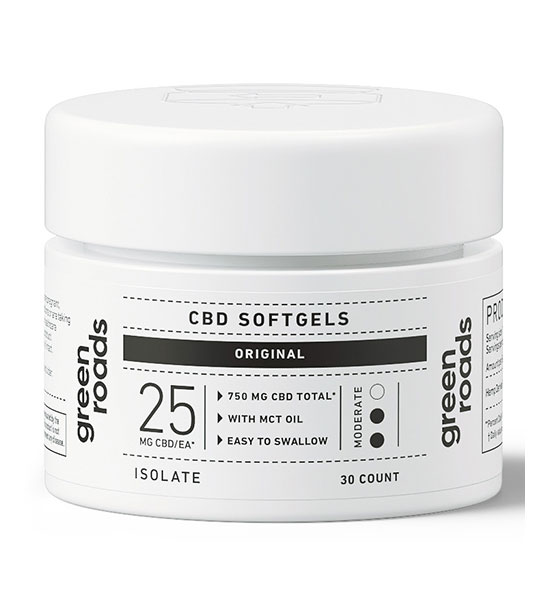 Green Roads CBD Oil Isolate 750mg Soft Gel Capsules - 30ct
