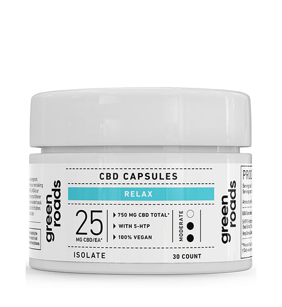 Green Roads Relax Formula CBD Capsules 750mg - 30ct