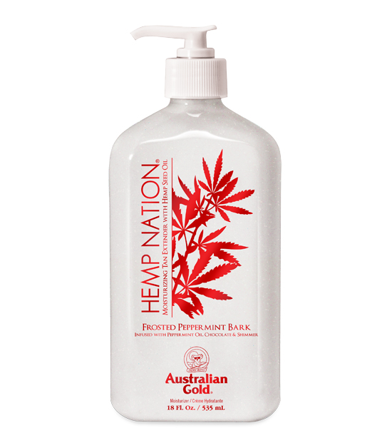 Hemp Nation Frosted Peppermint Bark Tan Extender 18oz <br><i>Limited Edition!</i>