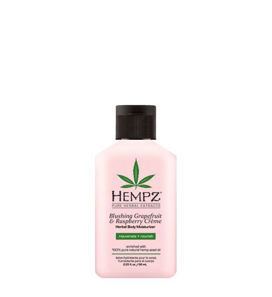 Hempz Blushing Grapefruit & Raspberry Crème Herbal Body Moisturizer 2.25oz Mini