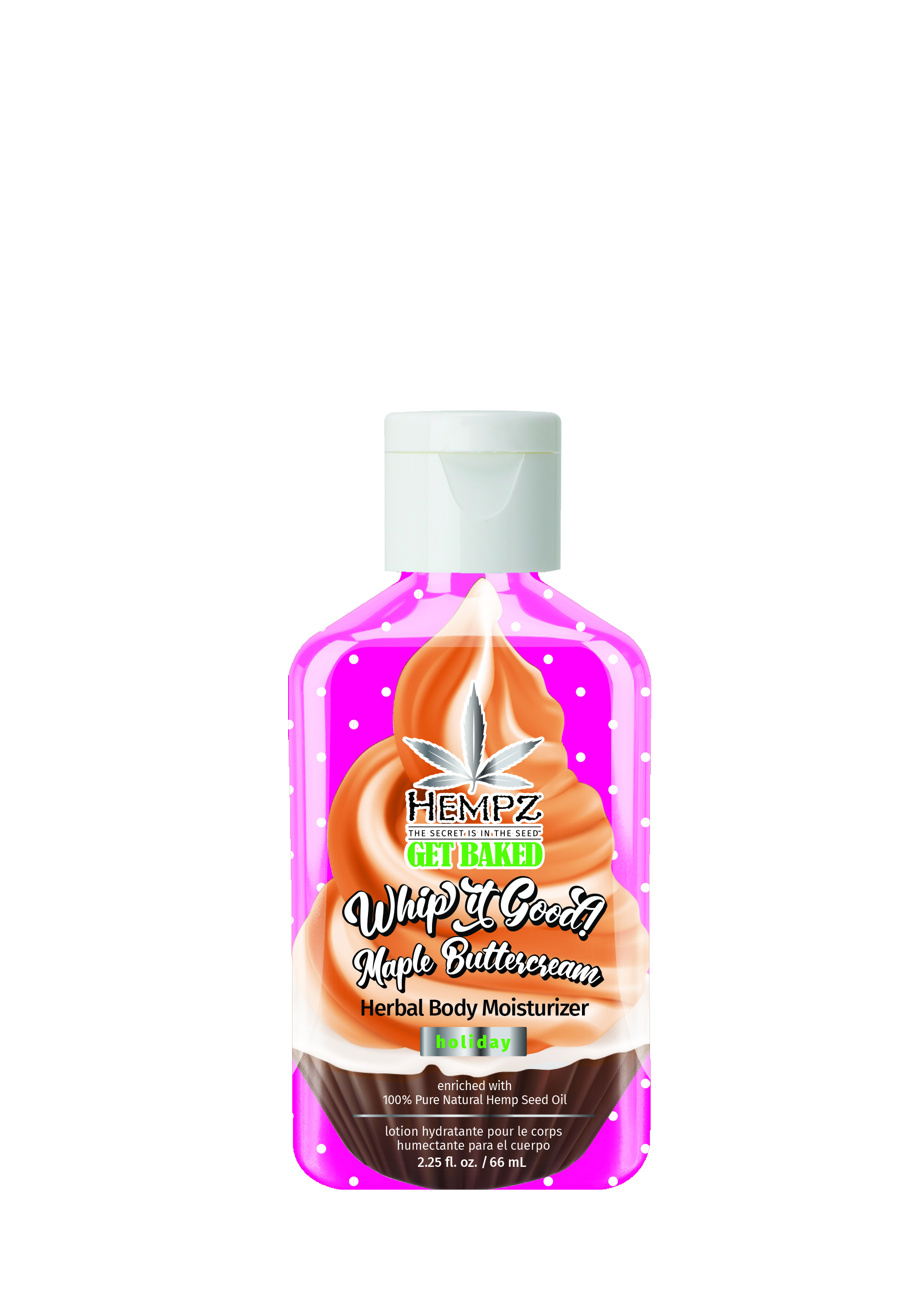 Hempz Maple Buttercream Herbal Body Moisturizer Mini 2.25oz