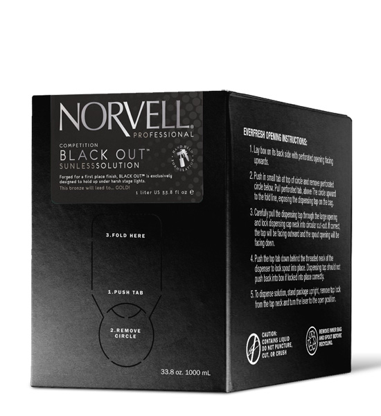 Norvell Competition Black Out Airbrush Solution 34oz