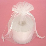 White Organza Drawstring Bag 6